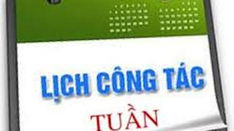 LỊCH TUẦN 34